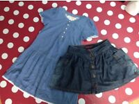 Dress and Ted Baker jeans skirt, 5-6yo