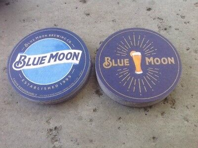 "Blue Moon Bar Coasters. You Receive ""25"" Coasters Free Shipping. 👀"