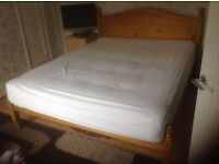 king size bed frame with mattress