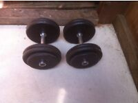 2x25kg metal dumbbells, home gym weights