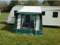 Caravan Porch Awning includes ground sheet, curtains and annexe