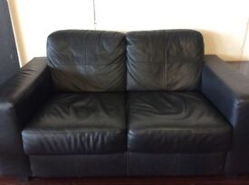 Black Leather Couch - Three years old, good condition!