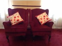 Queen Anne Style Armchairs