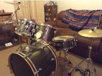 Mapex Drumkit (Onyx) with Paiste 101 Cymbals