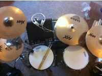 Yamaha stage custom advantage nouveau 5 piece drumkit and Sabian HHX/AAX cymbals