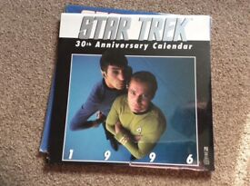 Original Series Star Trek Calendars.