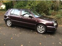 Golf Mark 3 VR6 Highline, 5 door manual.