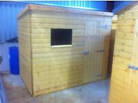 8ft x 5ft Wooden Garden Shed