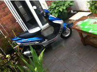 Lexmoto scout 49 - 50cc - blue & silver scooter