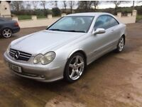 FINAL PRICE DROP £1399 ONO SILVER MERCEDES CLK 2003 COUPE *MOT'D TO NOV 2018* GREAT DRIVING CAR