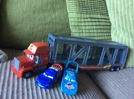 Disney cars truck set
