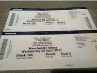 The Who tickets.