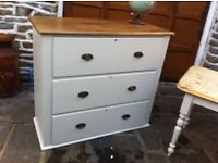 Large Victorian Drawers shabby vintage £90