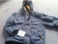 Boden coat fleece lined 5-6