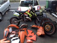 2005 ktm sx 125 tyla rattray road legal supermoto £2500 o.n.o comes with mx setup