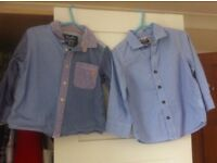 NEXT new/excellent condition baby boys shirts 18-24 months , 1.5-2 years blue smart