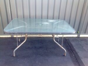Glass outdoor table Fern Bay Port Stephens Area Preview