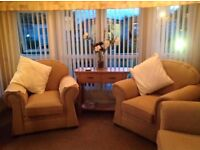 caravan hire at 5* south view holiday park skegness 2 bedrooms (sleeps up to 6 people )