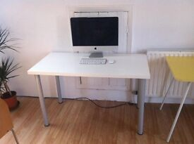 Ikea desk table top with 4 adjustable height legs.