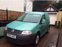 Volkswagen Caddy 2007 1.9 SDi - Wtih unique removable bed convertion. Alloy Wheels.
