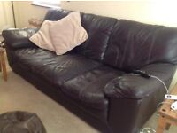 FREE 3 seater leather sofa. Collection 24th aug.
