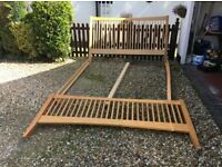 Super King solid oak bed frame