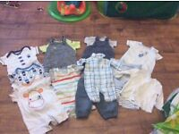New born and 0-3 months boys clothes