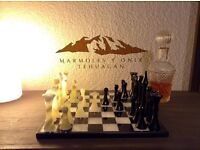 MARBLE-ONYX CHESS, IMPORTED FROM MEXICO, $259 to $119, sale off!!!!!!