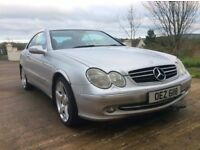 SILVER MERCEDES CLK 2003 COUPE GREAT DRIVING CAR *MOT'D TO NOV 2018* £1699 ONO