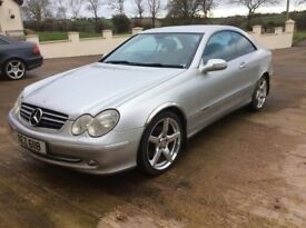 SILVER MERCEDES CLK 2003 COUPE GREAT DRIVING CAR *MOT'D TO NOV 2018* £1949 ONO