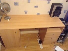 Desk for sale includes lots of storage space
