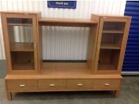 Wooden TV Stand With Cabinets and Storage