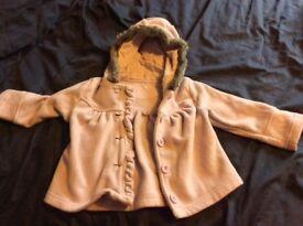 Girls purple coat 12-18m