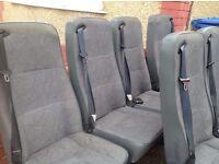 Transit minibus rear seats