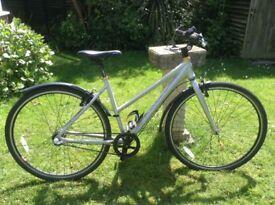 Ladies Silver Dawes Hybrid Bike