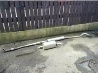 Corsa c 1.0 exhaust and back boxs
