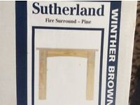 PINE FIRE SURROUND BY SUTHERLAND WINTHER BROWN NEW IN BOX