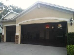 Garage Door Screens with free pulley system