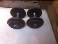 2x15kg metal dumbbells, home gym weights