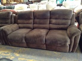 Brown buff recliners