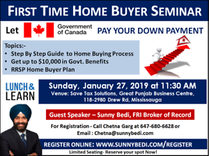 First Time Home Buyer Seminar - No Cost No Obligation !!