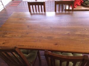 Eureka Street Furniture - Solid Wood with matching 6 chairs Tarragindi Brisbane South West Preview
