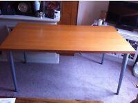 Large retro-style computer desk