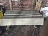 Concrete plinths/kick boards/gravel boards