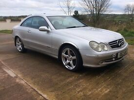 SILVER MERCEDES CLK 2003 COUPE GREAT DRIVING CAR £1750 ONO
