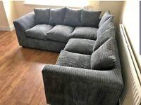 🌳☘️ELEGANCE OF YOUR HOUSE 🏚️ FOAM SEATED ❤️ LIVERPOOL JUMBO CORD <3+2 SEATER >CORNER SOFA