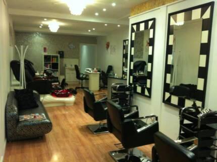beautiful hair and beauty salon