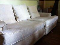 Large Cream DFS sofa
