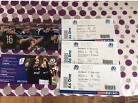 Scotland v France 6 nation tickets