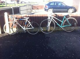 2 RALEIGH RACEING BIKES